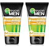 Garnier Men Men Power White Anti-Dark Cells Fairness Face Wash, 100g (Pack Of 2), 200 g (Pack of 2)