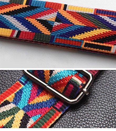 Tshome regolabile ampia tracolla da spalla Borsa a mano cinghia di tessuto tela di ricambio 130x 5cm Red Light Blue