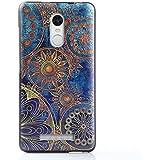 Xiaomi Redmi Note 3 Funda,Lizimandu 3D Patrón Protectiva Carcasa de Silicona Gel TPU estrecha Case Cover Para redmi note 3(Flor Azul/Blue Flower)
