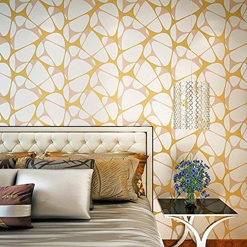 Designer Boutiquen (Hohe Qualität, minimalistischen Schlafzimmer Vliesstoff wallpaper moderne Wohnzimmer TV-Wand-Studie Abstract Hintergrund Designer Boutiquen, Golden Orange)