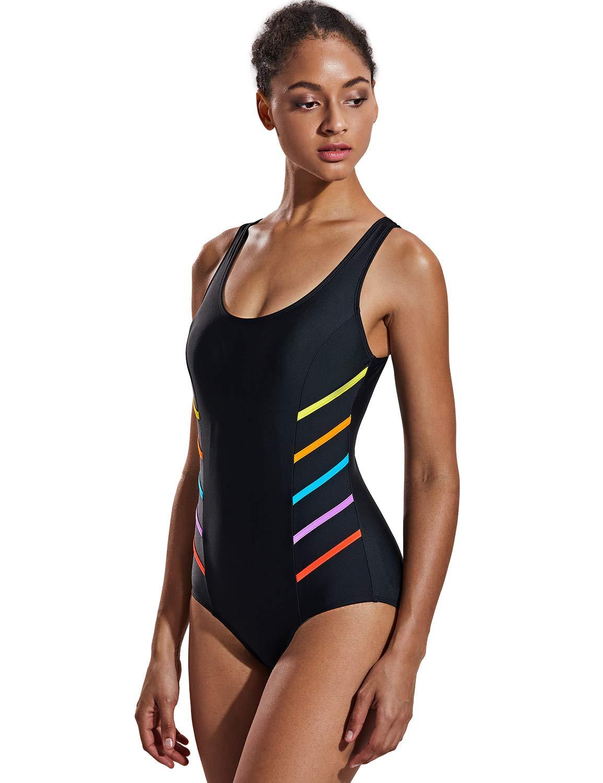 DELIMIRA Donna Costume da Bagno Scollo Rotondo Spalline Larghe 1 spesavip