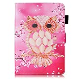 Apple iPad Mini 1 / iPad Mini 2 / iPad Mini 3 / iPad Mini 4 Case [with Free Earphone], Billionn 3D glitter PU Leather Flip Cover Shell Wallet Slim Stand Protective Cover for Apple iPad Mini 1 / iPad Mini 2 / iPad Mini 3 / iPad Mini 4 (Shell Owl)