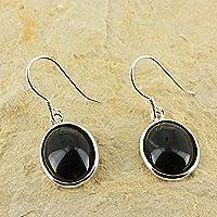 D? Ohrringe Oval Naturstein und Silber 925–Obsidian preisvergleich bei billige-tabletten.eu
