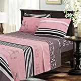 Best Sheet And Pillowcase Sets - BESTLINESTOYOU 4 Piece Bed Sheet Set, Brushed Microfiber Review