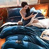 Vier stück flanell Verdicken sie Coral] Winter] Duplex Und plüsch warmen bettbezug Bettwäsche Quilt sets-H 220x240cm(87x94inch)