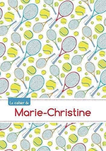 CAHIER MARIE CHRISTINE BLANC,96P,A5 TENNIS