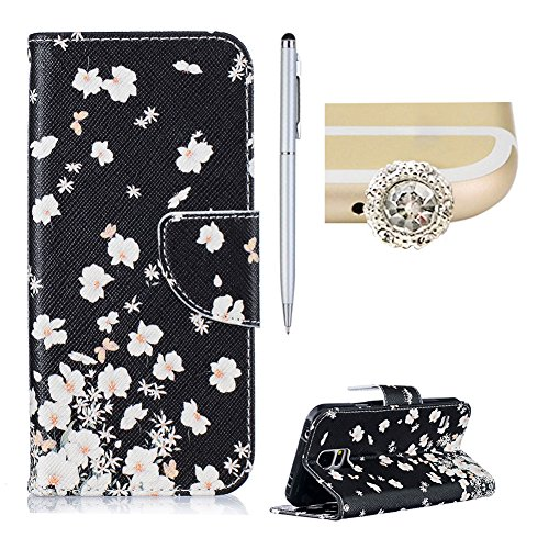 samsung-galaxy-s5-casesamsung-galaxy-s5-leather-wallet-caseskyxd-colorful-fashion-black-white-floral