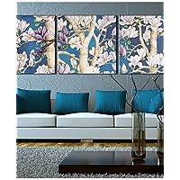 CinCin Su tela Art Landscape FlowersFull Filiale Set di 3 , 16