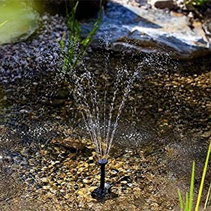 SIEGES 1.8W Solar Power Panel Submersible Water Pump Kits for Lawn Garden Pond Fountain Pool Water Cycle , Pond Fountain… 4