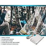 Notfall Zelt, Thermo Zelt für Survival, Notfälle, Camping oder Wandern - Schützt gegen Regen, Kälte, Sturm, Wind und Erfrierung -
