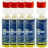 5 x MANNOL Diesel-Plus-Kraftstoffadditiv 9984 250ml