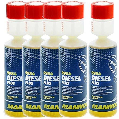 Preisvergleich Produktbild 5 x MANNOL Diesel-Plus-Kraftstoffadditiv 9984 250ml
