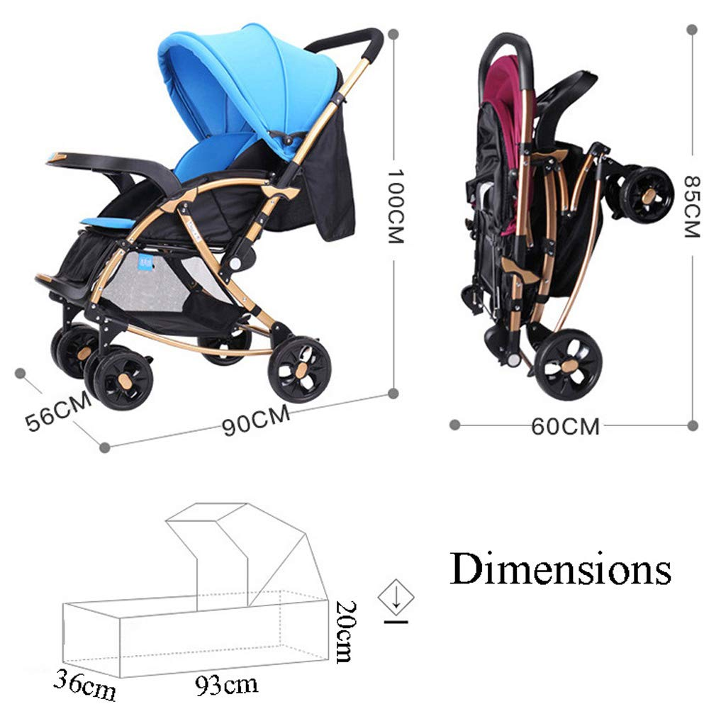 3 In 1 Pushchair Stroller Combination Rocking Chair Buggy Two Way Baby Jogger Travel System Newborn Infant Pram Purple Blue Prams Pushchairs