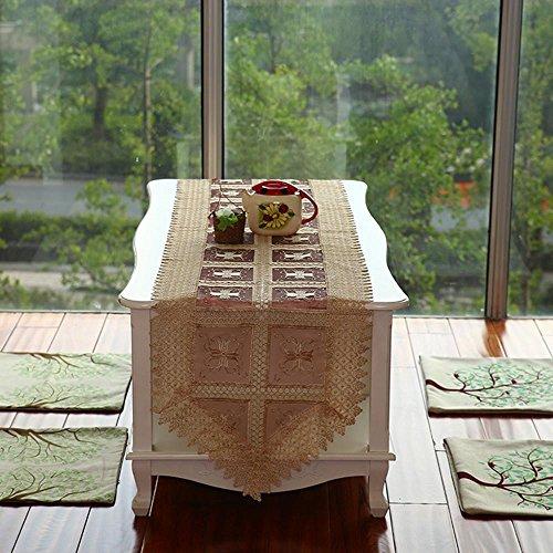 TINE HOME CURTAINS Tisch Linens Tischdecken Tisch runnersm Tisch Flagge Modern Minimalistischen Luxus Stickerei Tischdecke Tee Tischdecke (45* 200cm), 1, 45 * 200 -