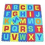 XNPP Jigsaw mats 26 lettere ispessite 1,5 tappetini antiscivolo per bambini in schiuma verde per bambini , multicolor mixing , 29*29*1.5 (26 pieces / pieces)