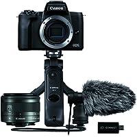 Canon EOS M50 Mark IIAmazon Streaming Kit Kamera+Objektiv EF-M15-45mm F3.5-5.6 IS STM+Stereo Mikrofon+Griffstativ…