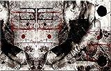 100x60cm Wait rot weiß schwarz grau abstrakt Kunstdruck von Paul Sinus Art - Leinwandbild fertig auf Keilrahmen, tolle Optik - Deutsche Qualität - moderne stilvolle Dekobilder und Designs für Ihr Wohnzimmer, Schlafzimmer Büro usw. ideal auch als Geschenk zu Geburtstag, Ostern, Weihnachten, Hochzeiten etc. - günstig und werthaltig zugleich - Bilder zum Träumen