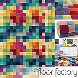 Tapis Moderne en Laine Festival multicolore 170x240cm - 100% pure laine vierge en couleurs vives