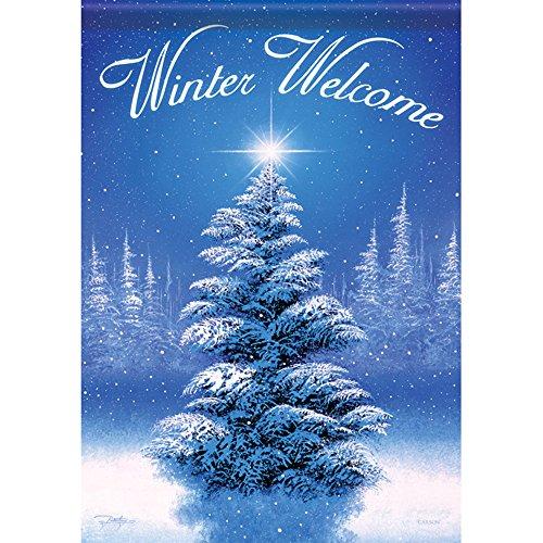 e Weihnachten 71,1x 101,6cm Welcome doppelseitig House Veranda Garten Flagge (Veranda Flags)