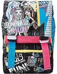 Monster High - Mochila Escolar separable con Big Gadgets, extensible Elemental y Medio, 28 Litros, Rosa / Negro