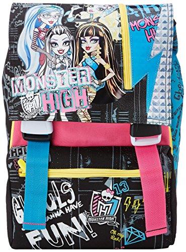 Imagen de monster high   escolar separable con big gadgets, extensible elemental y medio, 28 litros, rosa / negro