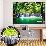 Póster Cascada de Feng Shui Mural Decoración Naturaleza Selva Paisaje Paraíso Vacaciones Tailandia Asia Wellness Spa Relax | foto póster mural imagen