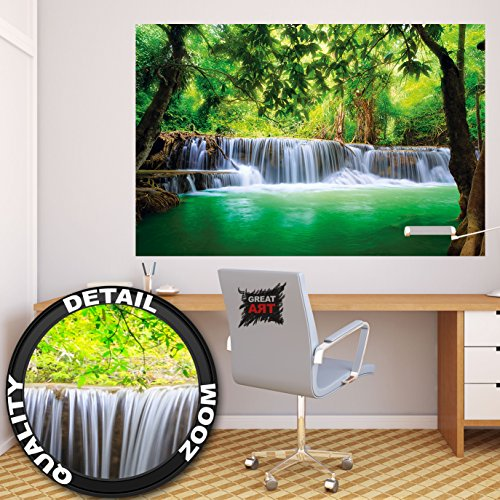 poster-cascata-feng-shui-decorazioni-pareti-natura-giungla-paesaggio-paradiso-vacanze-in-tailandia-a