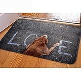 CHAQLIN süsse Haustier Hund Print waschbar Fußmatten Eingang saugfähig Way Boden Matte Teppich Home Decor