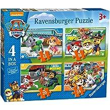 Ravensburger Paw Patrol 4 en una caja (12, 16, 20, 24pc) Puzzles de sierra