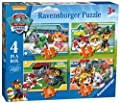 Ravensburger Boîte de 4Puzzles Pat'Patrouille (12, 16, 20 et 24pièces)