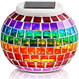 GRDE® Solar Powered Mosaic Solar Lights LED Magic Sunshine Ball Colour Changing Lovely Night Lights Party Lights, Weatherproof Crystal Glass Globe Ball, Best Table Lamps for Bedroom, Party, Garden, Patio, Yard, Colorful Outdoor / Indoor Decoration Led Lighting