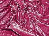 Pannesamt Velour Gewebematerial - Lippenstift - Rosa,