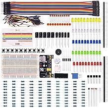 Kuman Ventiladores Eléctricos kit para Arduino,Raspberry Pi con placa de pruebas, cable, resistor, condensador, LED, potenciómetro (236 Artículos) K66