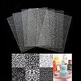 September-Europe 6Kunststoff-Textur-Matten Backform, Kuchen Prägung, Fondant transparent Backen Kuchen Formenbau