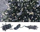Lunartec Deko-Gartenbeleuchtung: LED-Lichterkette mit 40 LEDs für innen & außen, IP44, warmweiß, 4 m (LED Kette)