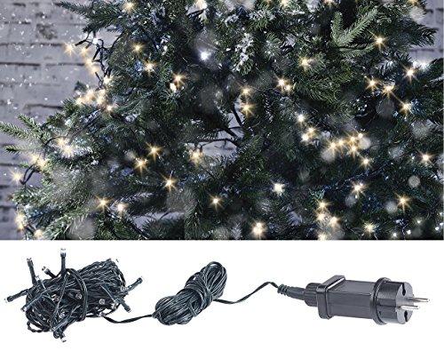 Lunartec Beleuchtung aussen: LED-Lichterkette mit 40 LEDs für innen & außen, IP44, warmweiß, 4 m (Lichterketten für draußen)
