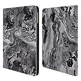 Head Case Designs Offizielle Haroulita Grau Marmor 2 Brieftasche Handyhülle aus Leder für iPad Air (2013)