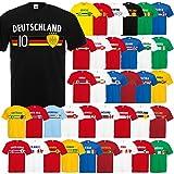 Fußball WM T-Shirt Fan Artikel Nummer 10 - Weltmeisterschaft 2018 - Länder Trikot Jersey Herren Damen Kinder