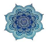 Esterilla de yoga bancn gran polígono de flor de loto Mandala tapiz playa manta chal