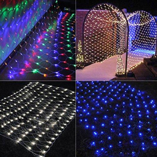 200LED Zeichenfolge Fee Beleuchtung Netz HARRYSTORE LED Mesh Vorhang Chrismas Hochzeit Party (Mehrfarbig) (Produkte Kamera-beleuchtung-kit Für)