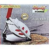 Shakti Stainless Steel Chapatti Press/Roti Press/Puri Press Diameter :18cm (Large)