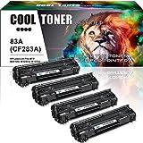 Cool Toner Kompatibel für 83A CF283A Laser Tonerkartusche für HP Laserjet Toner Pro MFP M125NW M127FW M127FN M201DW M201 M201N M225DW M125A Toner Laserdrucker 4-Pack
