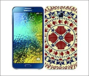 Galaxy Printed 1802 Aquatic Pattern Red Hard Cover for Samsung ACE 3 (7272)