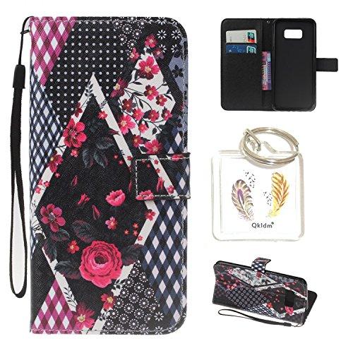 Preisvergleich Produktbild für Galaxy S8 Plus PU Silikon Schutzhülle Handyhülle Painted pc case cover hülle Handy-Fall-Haut Shell Abdeckungen für Smartphone Samsung Galaxy S8 Plus + Schlüsselanhänger (/PCP) (4) (1)