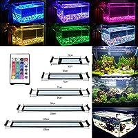 GreenSun Lámpara Acuario Luces Impermeable LED para Acuarios de Peces y Estanques con Control Remoto 18W 71.5cm (108 granos de la lámpara)