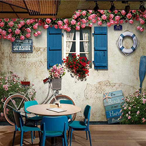 VVNASD 3D Aufkleber Tapete Wand Wandbilder Dekorationen Mittelmeerstil, Das Grafisches Plakat Hintergrund Wohnzimmer Errichtet Kunst Kinder Zimmer (W) 200X(H) 140Cm