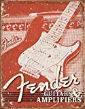 Fender Guitars and Amps. weathered (pt) signe d'acier (de 3040)