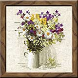RIOLIS-Counted Cross Stitch Kit. Express your love for arts and crafts with these beautiful cross stitch kits! Find a themed kit for any taste! This package contains 15 count flaxen Zweigart Aida fabric, Safil wool/acrylic yarn in tewnty four...