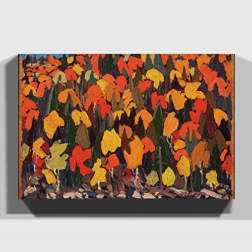 Big Box Art Canvas Print 30 x 20 Inch (76 x 50 cm) Tom Thomson Autumn Foliage - Canvas Wall Art Picture Ready to Hang - FREE DELIVERY