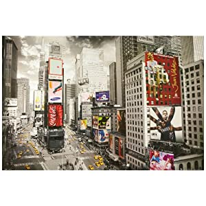 1art1 51481 New York - Times Square, Werbeplakate Taxis Poster 91 x 61 cm